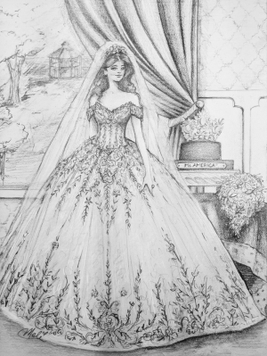 Susan's Wedding Gown 2018 Illustration